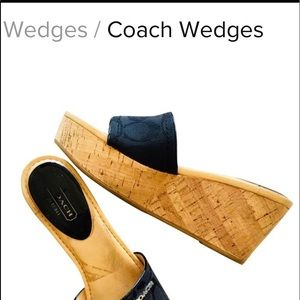 Coach Black Joanne Wedges